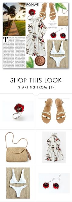 """Tropical"" by giampourasjewel ❤ liked on Polyvore featuring Physicians Formula, Ancient Greek Sandals, Mar y Sol and romwe"