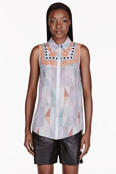 Mother Of Pearl Pale Grey Silk Crepe Umiko Blouse