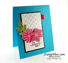 Bright & Colorful Stampin' Up! Secret Garden Card