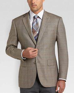 Pronto Uomo Platinum Modern Fit Sport Coat, Tan Plaid