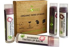 Organic Tinted Lip Balm by Sky Organics – 4 Pack Assorted Colors –- With Beeswax, Coconut Oil, Cocoa Butter, Vitamin E- Minty Lip Plumper for Dry, Chapped Lips- Tinted Lip Moisturizer. Made in USA | WOMAN SHOP