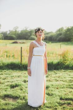Outdoor bride photos