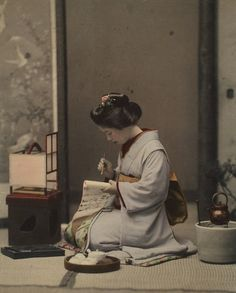 Geisha trained to specialize in certain arts such as dance or music. Calligraphy was a rarer skill. Photos Of Geisha In The Late 1800s