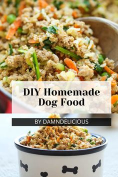 Handpicked Top 10 DIY homemade dog food recipes and you can easily make it at home to improve your pup's health and diet. Vegan Dog Food, Food Dog, Make Dog Food, Puppy Food, Food For Dogs, Dog Biscuit Recipes, Dog Treat Recipes, Dog Food Recipes, Homemade Dog Treats