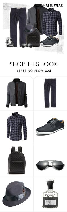 """""""Good morning my man"""" by krista-zou on Polyvore featuring LE3NO, J.Crew, Marc, Gucci, Stacy Adams, Creed, men's fashion, menswear, polyvorefashion and polyvoreset"""