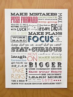 Stay Curious 5 x 7 limited edition print - typography manifesto for creatives and dreamers