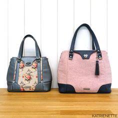 De originele en de aangepaste versie van de Harriet Expandable Kate Spade, Handbags, Tote Bag, Purses, Wallet, Sewing, Pattern, Clutch Bag, Couture Sac