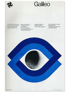 agi-open-london: Gottschalk + Ash (Fritz Gottschalk Stuart Ash) — Galileo poster for the Theatre Company at the St. Graphic Design Posters, Modern Graphic Design, Graphic Design Typography, Graphic Design Illustration, Branding Design, Logo Design, Layout Design, Print Design, Swiss Design