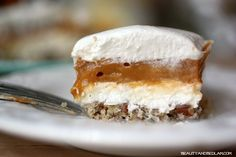 The layers of flavors make this light, no bake Butterscotch Torte one of our favorite desserts.