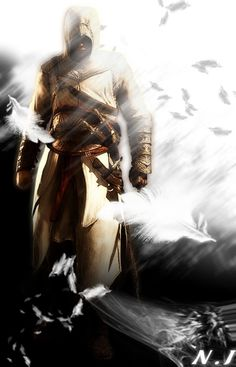 Altair in a storm of feathers. Posted from DeviantArt.com (image credit Ninthjake) to maidzgraphics.net by Marvi Ocampo.