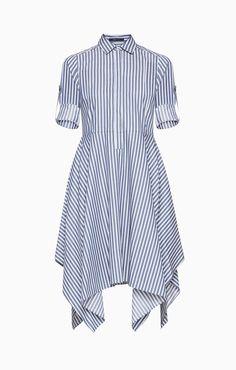 BCBG Beatryce Striped Shirt Dress 100% cotton twill size XS