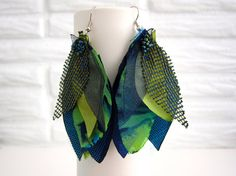 New Item! I am diving into the jewelry arena now with these handmade fabric earrings- enjoy!