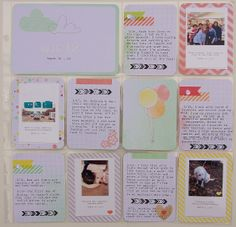 Project Life: Week 12|2014. I used Dear Lizzy Neapolitan Collection and page Design F.