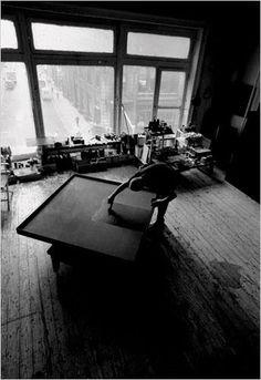 Ad Reinhardt in his #studio.