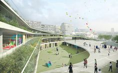 innovative school design concept by Chartier-Dalix architecture.