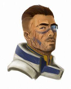 Mass Effect fan art: Garrus, Tali (unmasked), Mordin and Wrex in human form Mass Effect Tali, Kaidan Alenko, Commander Shepard, Dragon Age Inquisition, Geek Girls, Character Concept, The Funny, Bioware Games, Video Games