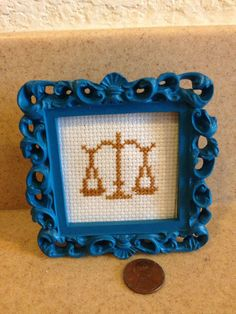 Attorney Lawyer gift completed cross stitch by BlackacreGifts