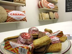 Biscuit cushions by Nikki McWilliams at the Ideal Home Show, 2011