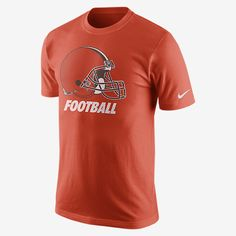 REPRESENT YOUR TEAM The Nike Facility (NFL Browns) Men's T-Shirt shows your team loyalty with an oversized logo on soft, comfortable cotton. Product Details Rib crew neck with interior taping Fabric: 100% cotton Machine wash Imported