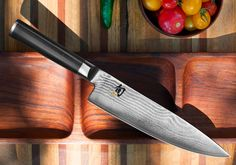 Shun Classic Chef's Knife with VG-MAX Cutting Core and Ebony PakkaWood Handle; All-Purpose Blade for a Full Range of Cutting Tasks with Curved Blade for Easy Cuts; Cutlery Handcrafted in Japan Japanese Cooking Knives, Japanese Kitchen Knives, Japanese Chef, Best Kitchen Knife Set, Best Kitchen Knives, Kitchen Tools, Cooks Knife, Chef Knife, Knife Block Set