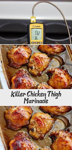 Killer Chicken Thigh Marinade - Recipe Of The Days, Chicken, Meat Recipe Baked Bbq Chicken Legs, Chicken Thigh Marinade, Baked Greek Chicken, Cajun Chicken Recipes, Shredded Chicken Recipes, Healthy Chicken Recipes, Greek Chicken Thigh Recipe, Slow Cooker Chicken Curry, Hands