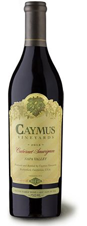 Caymus Napa Valley Cabernet Sauvignon ($72) - scents of dark cherry and blackberry, subtly layered with warm notes of vanilla and flourishes of cocoa and sweet tobacco