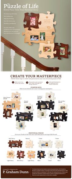 Puzzle picture frame