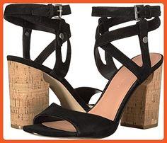 Sigerson Morrison Women's Paulina 2 Black Suede Sandal - Sandals for women (*Amazon Partner-Link)