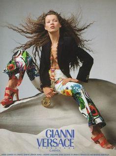 Versace Fall 1996 Photographed by Richard Avedon.
