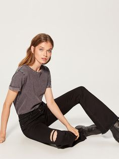 Black Jeans, Costume, Pants, Shopping, Tops, Women, Fashion, Trouser Pants, Moda