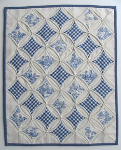 gingham cathedral window quilt...