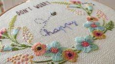 Be Happy Hoop Detail
