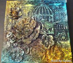 Made by Sannie: Tim's Tattered Floral Challenge