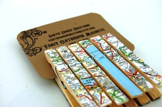 Around the World Fancy Clothespins Magnets Set of 6. $4.00, via Earth Cookie Creations on Etsy.