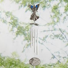 Personalized Whispers From Heaven Windchime - Personal Creations Gifts Personalized Wind Chimes, Personalized Gifts, Angel Wind Chimes, Memorial Wind Chimes, Grieving Friend, Fathers Day Sale, Remember The Time, Memorial Gifts, Memorial Ideas