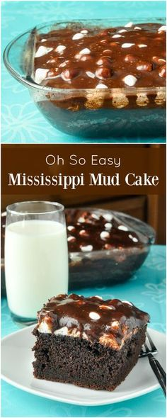 Mississippi Mud Cake - a southern favourite that's easy to make from scratch and is popular with kids of all ages. Chocolate cake, marshmallow and a sweet chocolatey glaze; what's not to love?