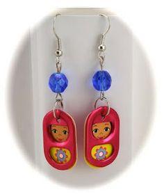 From an Alex Kit...soda tab earrings. - soda tab - #sodatab  pop tab earrings