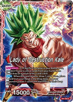 Lady of Destruction Kale Muscle Girls, Dragon Ball Z, Kale, Awakening, Card Games, Warrior Women, Destruction, Goku, Euro