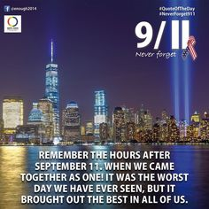 #NeverForget911  Remember the hours after 9/11. When we came together as one! It…