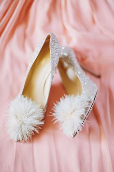 furry wedding shoes http://trendybride.net/unique-bridal-wedding-shoes/ {trendy bride}
