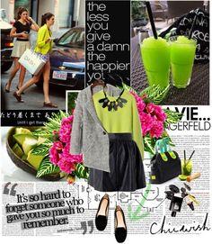 look, preto, verde, cinza