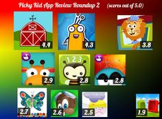 Here's what we think of the most recent set of toddler iPad/iPhone apps we got! Details here: http://pickykidappguide.com/app-reviews/app-review-roundup-2