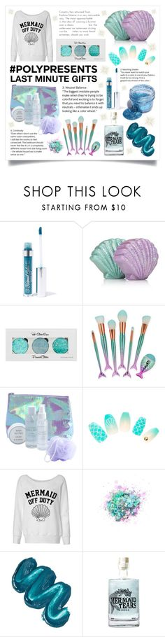 """#PolyPresents: Last-Minute Gifts"" by raven-couture ❤ liked on Polyvore featuring Mermaid Salon, The Gypsy Shrine, Trash Cosmetics, mermaid, gifts, contestentry, polyPresents and lastminutegifts"