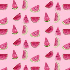 My first pattern ever from my watercolor melons by Kata Rózsa