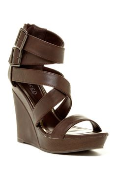 Litty Strappy Wedge Sandal by Bucco on @nordstrom_rack