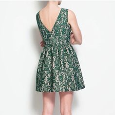 ZARA DRESS This Zara cocktail dress is limited? It's a short lace emerald color  dress. For any special occasion. Just bought from another posher but it's too short for me. Feel free to make an OFFER!! Zara Dresses