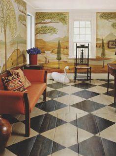 Painted floors on Pinterest | Bunny Mellon, Painted Wood Floors ...
