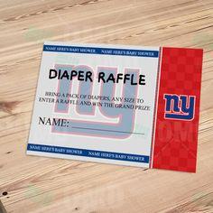 New York Giants Diaper Raffle