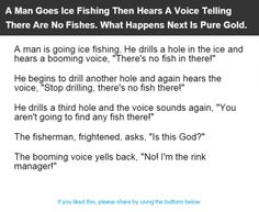 A Man Goes Ice Fishing Then Hears A Voice Telling There Are No Fishes. What Happens Next Is Pure Gold. | Alltopics