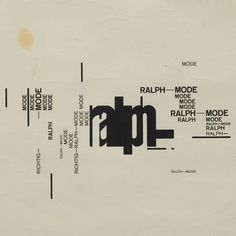 Wolfgang Weingart, A Favorite Work From the Time I Was Still Learning, Basel, 1971